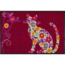 Schoonloopmat Flower Cat